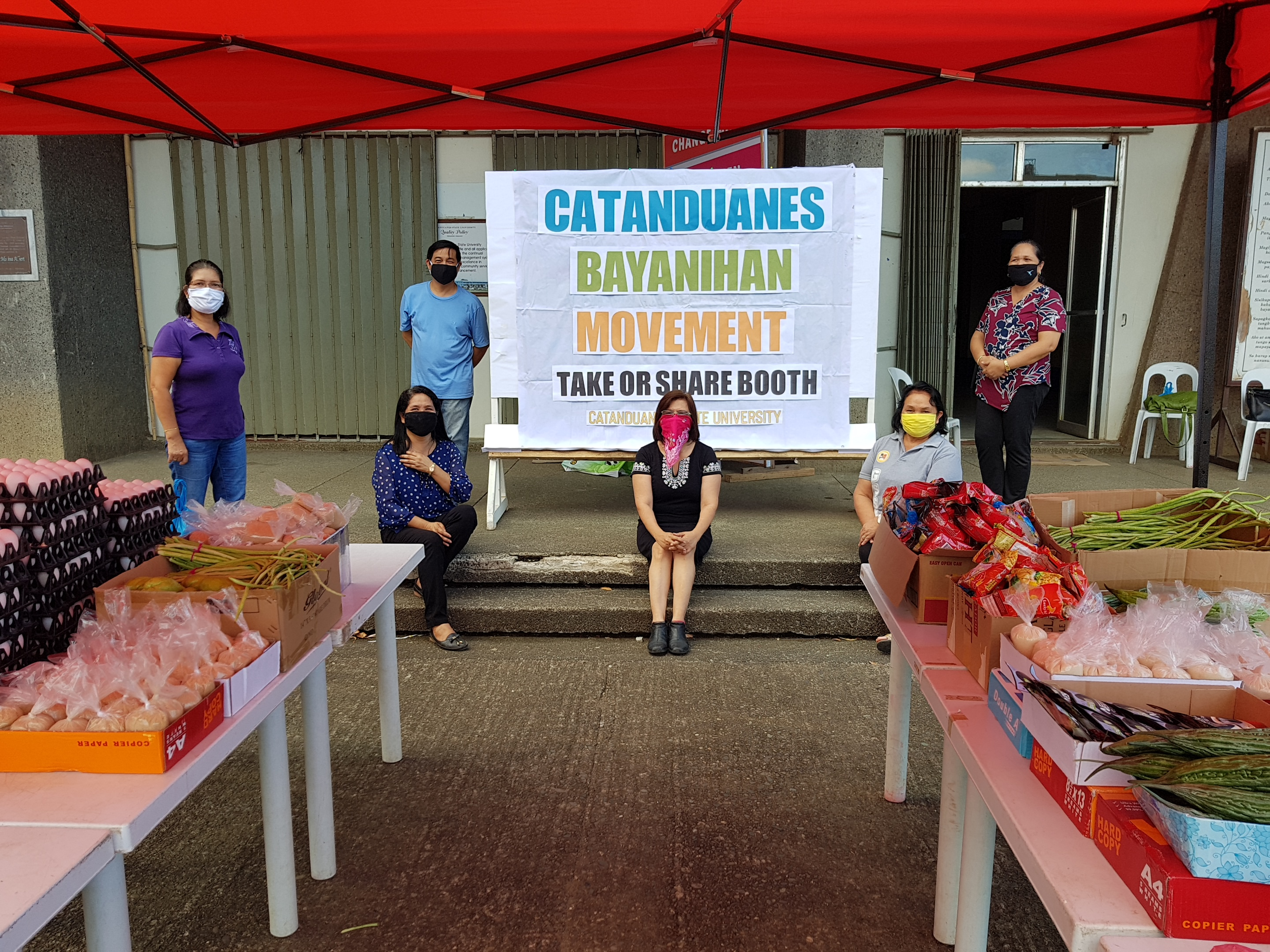 LEND A HAND FOR THE NEEDY WITH CATANDUANES BAYANIHAN MOVEMENT AT CatSU DURING COVID-19 CRISIS